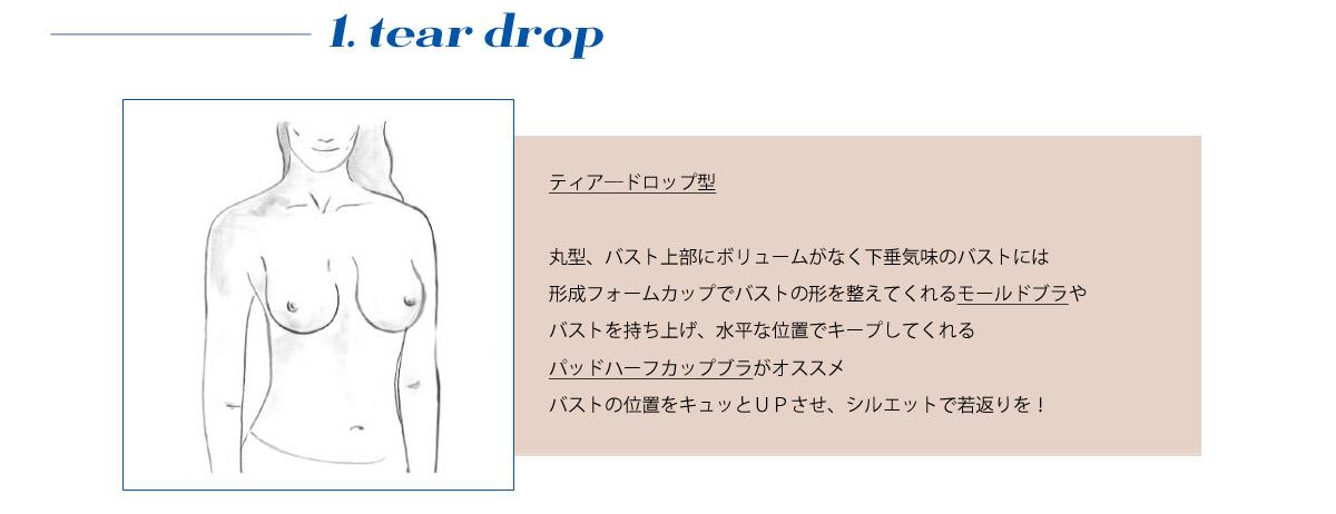ティア―ドロップ型